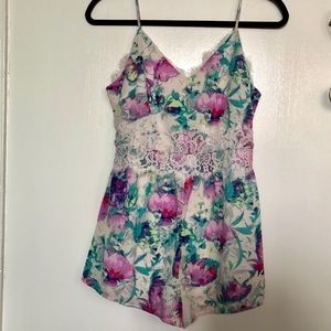 Forever 21 | Floral Watercolor Lace Romper